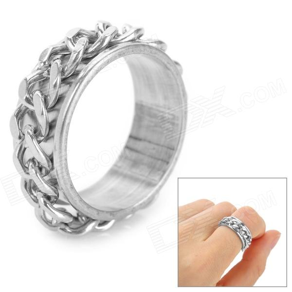 Fashion Titanium Steel Ring - Silver