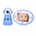 "2.4GHz Wireless 3.5"" LCD 1/4"" CMOS Night Vision Monitoring Camera for Baby - Blue + White"