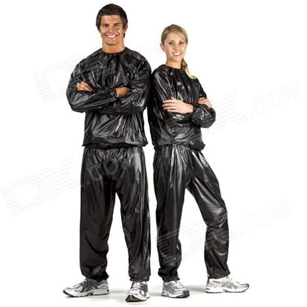 LIT Sports Running Losing Weight  Sauna Clothes + Pants Set (XXL)