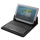 "Desmontable Bluetooth V3.0 64-Teclado PU Funda de Cuero para ""9.7"" ""10.1"" Tablet PC - Negro"