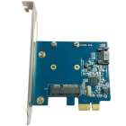 WBTUO LT-304 PCI-E SATA 3.0 + MSATA High-Speed Transmission Desktop Dedicated Expansion Card - Blue