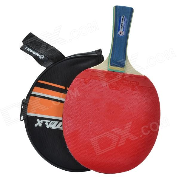 WIN.MAX W-102 Sports 1 Star Single Table Tennis Paddle w/ Long Handle - Red + Black