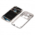 Repair Parts Replacement Front Panel + Rear Panel for Samsung Galaxy S4 i9505 - White + Silver