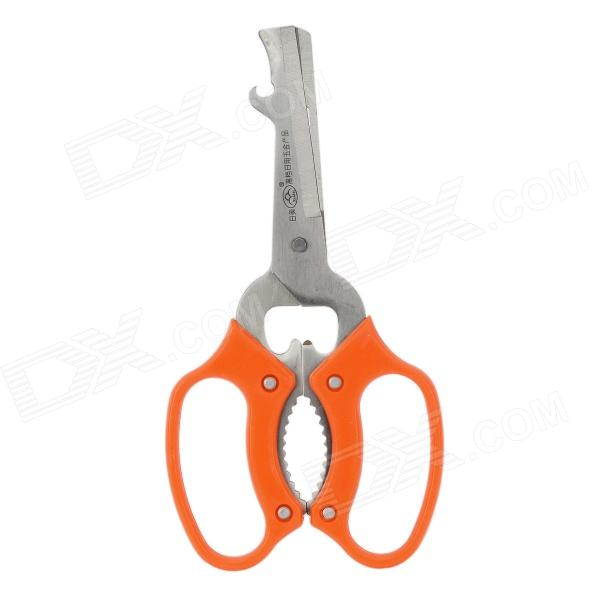 RIMEI K55 Multifunctional Kitchen Scissors - Orange + Silver rimei 3013 handy durable stainless steel nailclippers w grinding pad silver