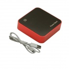 "0.7"" LED 8800mAh Mobile Power Source Bank w/ Dual Output for iPhone / Samsung - Black + Red"