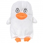 Cute Cartoon Plush Zipper Style Pen Pouch - White + Orange + Multi-Colored