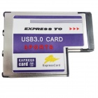 WBTUO BC718 Notebook Express to 3-Port USB 3.0 (54MM FL1100) Expansion Card for Laptop - Silver