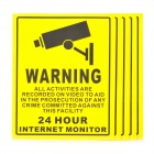 """into Monitoring Range"" Tip Warning Stickers Set - Yellow + Gun Black (5 PCS)"