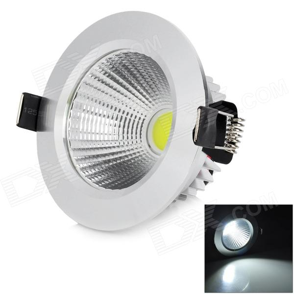 HUGEWIN HTD753 3W 240lm 6500K COB LED White Ceiling Light - Silver (85~265V)