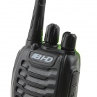 BHD B-868 Rechargeable 5W 400~470MHz 16-Channel Walkie Talkies w/ LED Flashlight - Black