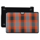 "bta Check Pattern Protective Plastic Case for Apple MacBook Air 11.6"" - Orange + Black"