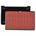 "bta Check Pattern Protective Plastic Case for Apple MacBook Air 11.6"" - Red + Black"
