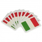 The Flag of Italy Style Body Paper Stickers - Red + Beige + Green (10 PCS)