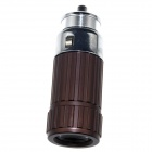 Zhishunjia Mini Car Charger Powered Rechargeable  6500K 60-Lumen  Flashlight - Coffee(DC 12V)