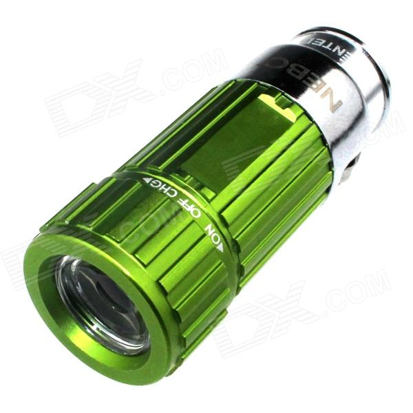 Zhishunjia Mini Car Charger Powered Rechargeable  6500K 60-Lumen  Flashlight -Green (DC 12V)
