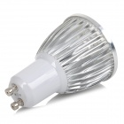 GU10 5W 650lm 6500K 5-LED White Light Dimmable Lamp - White + Silver Grey (AC 220V)