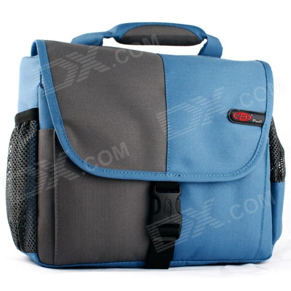 PAULL BL-1311 Stylish Nylon DSLR Camera Bag for Canon / Nikon / Sony / Pentax + More - Blue + Grey the band the band northern lights southern cross lp