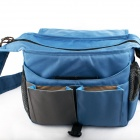 PAULL BL-1311 Stylish Nylon DSLR Camera Bag for Canon / Nikon / Sony / Pentax + More - Blue + Grey