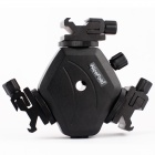 NiceFoto All-metal Tri-Hot Shoe Flash Stand Adapter Bracket Mount Trigger w/ Umbrella Holder - Black