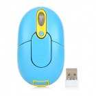 Promi MF-310 2.4GHz USB 2.0 Wireless Optical Mouse - Blue + Yellow (2 x AAA)