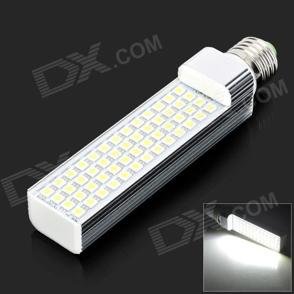 E27 12W 1200LM 3500K White Light 52-5050 SMD LED Lamp - White + Silvery Grey (AC 85~265V) r7s 15w 5050 smd led white light spotlight project lamp ac 85 265v