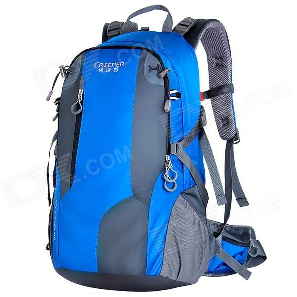 Creeper YD-187 Outdoor Sports Oxford Backpack w / capa de chuva - azul (40L)