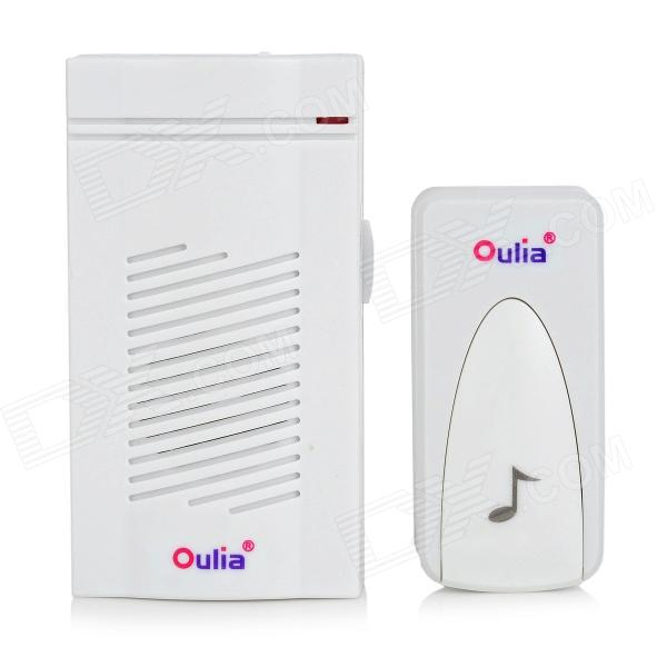 Wireless Remote Control Doorbell Set - White (2 x AAA)
