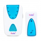 Wireless Remote Control Doorbell - White + Blue (2 x AAA)