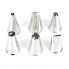 DIY Icing Cream Cake Cookie Chocolate Nozzles Piping Model Tool Set - Silver