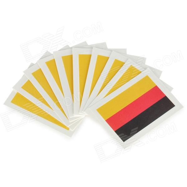 Germany Flag Style Body Paper Stickers - Blue + Red + Yellow (10 PCS)