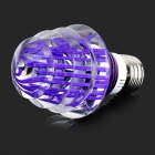 E27 3W 4200K LED RGB Light Bulb w/ Remote Controller - White + Purple (85~265V)