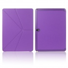ENKAY Multi-folding Protective PU Leather Case for Samsung Galaxy Note 10.1 2014 Edition - Purple