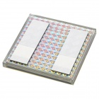 24 Hours CCTV Security Warning Board - Transparent + Black + Multi-Colored