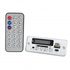 LSON LED Car MP3 Player Module w/ Remote Controller - Silver (12V)