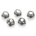 Stainless Steel Universal Camera Screw - Black + Silver (5PCS)