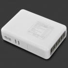USB 6-Port Power lader m / 4-Adapter for iPhone / iPad + More-Hvit (AC 100 ~ 240V)
