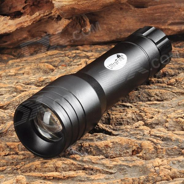 UltraFire MT-30 LED 3-mode Zooming White Flashlight - Black (3 x AAA)