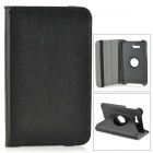 Rotary Protective Flip Open Case w/ Stand for 7'' Samsung Galaxy Tab3 Lite 7 - Black
