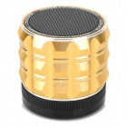 K3 Fashion Bluetooth V3.0 Stereo 2.1-CH Handsfree Speaker w/  TF / FM / AUX / Microphone - Golden