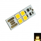 0.5W 40lm USB Touch Control 4-LED Warm White Light Small Lamp - Silver + Black