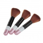 MS-9064 Professional Make-up Brushes - Black + Pink + Brown (3 PCS)