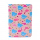 Lofter Flamingo Family Illustration PU Leather Case Cover Stand for RETINA IPAD MINI - Pink + Blue