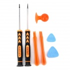 Jakemy JM-I81 Convenient 7-in-1 Repairing Tool Set for IPHONE / IPAD / IPOD - Orange