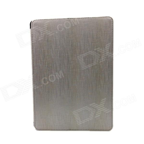 Upscale Protective PU Leather Case Cover Stand w/ Heat Emission Holes for IPAD AIR - Silver air emission control handbook