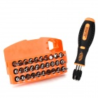 Jakemy JM-6103 Convenient 30 Screwdrivers w/ 1 Handle Tool Set - Orange + Black