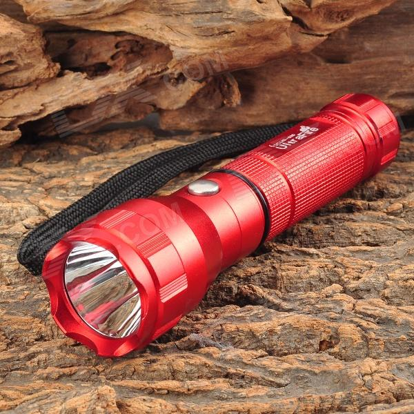 UltraFire 3-Mode 130LM White Flashlight - Red (1 x 18650)
