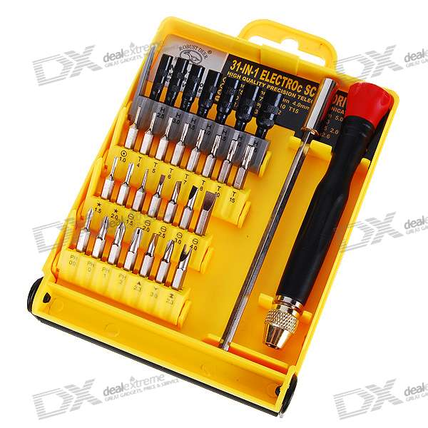 Precision Screw Drivers Toolkit for Electronics DIY (31-Piece Set) видеокамера panasonic hc v380