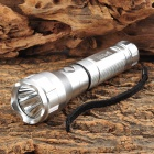 UltraFire CREE XP-G R5 100lm 3-Mode White Flashlight - Silver (1 x 18650)
