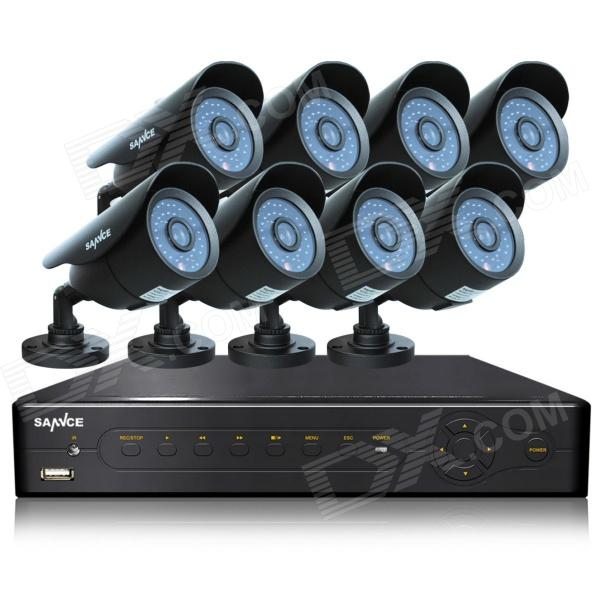 SANNCE P2P HDMI 8-CH DVR 8 x 800-TVL kameraer CCTV Security System med 1 TB HDD (For NTSC land)