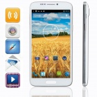 "KICCY H8 MTK6592 Octa-Core Android 4.2 WCDMA Bar Phone w/ 6"" FHD, 16GB ROM, GPS, OTG, 13 MP - White"